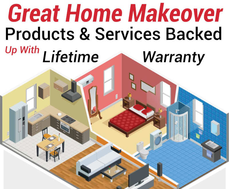 Great Home Makeover Products & Services Backed Up With Lifetime Warranty
