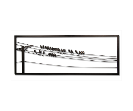 Wire Wall Decor birds on wire metal wall art - homesolutionz